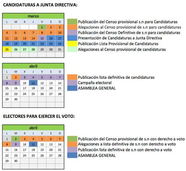 Calendario electoral Asamblea 2013