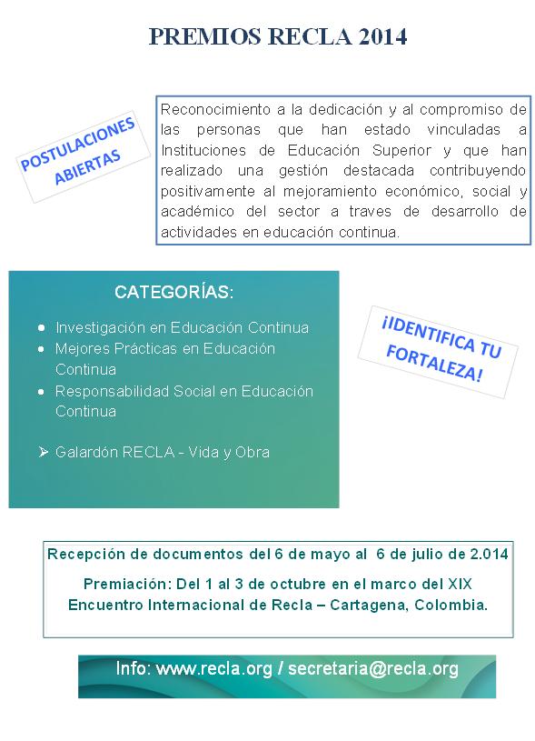 Premios Recla 2014
